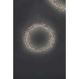 Mains Starburst Wreath - 35cm (White)